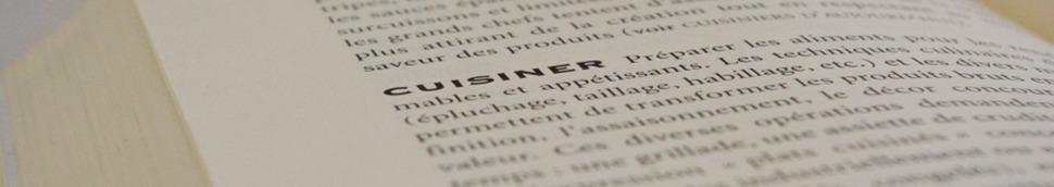 Lexique gastronomique et dictionnaire culinaire