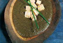 Crème de lentilles aux dés de foie gras