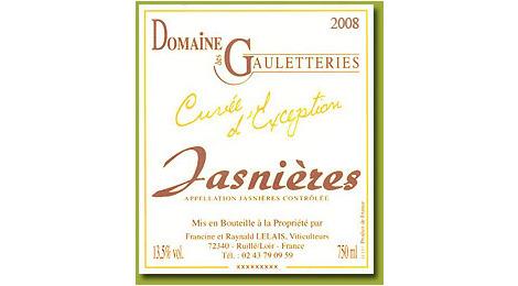 """JASNIERES  2008 """"Cuvée d'Exception"""""""