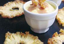 Crème d'ananas et caramel au beurre salé