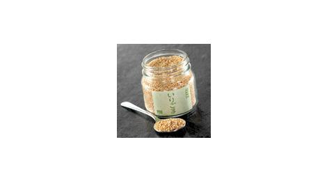 Graines de sésame blanc grillées 115 gr GOMAYA