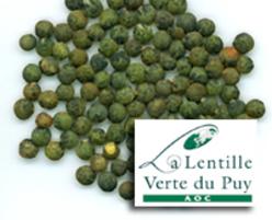 Lentilles vertes du Puy AOC