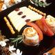 Brochette de sole rôtie au chutney de jasmin et macaronis confits aux épices
