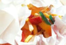 Papillote de fruits frais et confits