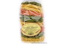 Pâtes artisanales TAGLIATELLES PRIMAVERA fines 3 couleurs