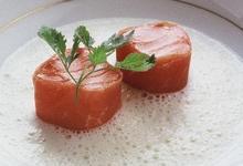 Cubes de saumon et jambon de pays au lait de Comté