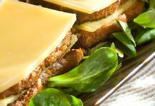 Millefeuille de Comté au pain d'épices