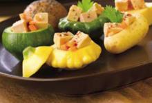 Les cubes de Foie Gras en mini légumes