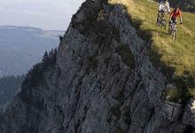 VTT sur le sommet du Mont d'Or près de Métabief