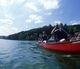 Canoe sur le lac St Point de Malbuisson