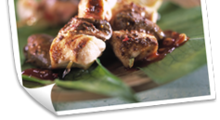 BROCHETTES DE LAPIN SAUCE BARBECUE