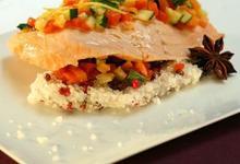 Filet de Saumon de Norvège en croûte de sel anisé