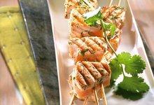 """Brochettes de Saumon de Norvège sauce """"chien"""""""
