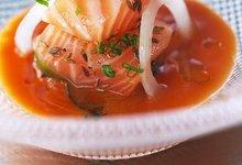 Chaud-Froid de Saumon de Norvège au consommé de tomates