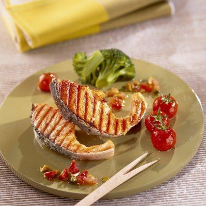 Recette c telettes de saumon de norv ge grill es l 39 huile parfum e - Recette chataignes grillees ...