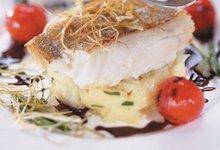 Cabillaud de Norvège, purée et vinaigrette au jus de viande