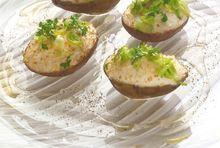 Pommes de terre farcies au carré frais bio