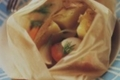 Papillotes de saint-jacques aux pommes de terre
