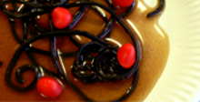 Spaghetti carbonata aux fraises Tagada