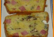 Cake d'Automne au Roquefort, Jambon et Noix 2