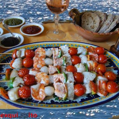 Recette brochettes de la mer - Cuisine belge recettes du terroir ...