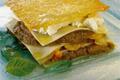 Lasagnes gratinées au Banon, caviar d'aubergines