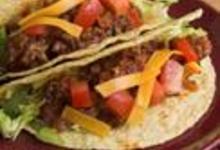Tacos à la viande et au cheddar