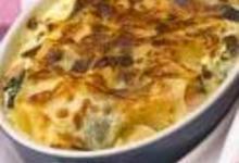 Lasagnes d'épinards aux deux truites