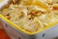 Crozets gratinés au reblochon et au jambon fumé