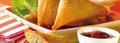 Samoussas aux légumes et au boeuf haché