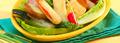 Salade romaine et légumes en tempura