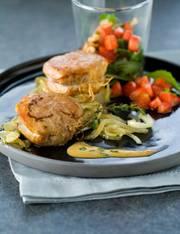 recette filet mignon sauce estragon et moutarde salade de roquette aux fraises et aux noix. Black Bedroom Furniture Sets. Home Design Ideas