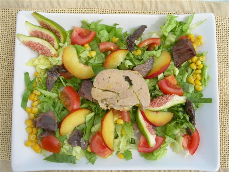 L 39 assiette landaise for Hors d oeuvre avec saumon fume