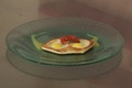 Lunette d'oeuf de caille à la tomate confite