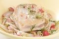 Pavé de thon rôti, calins de radis roses