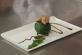 Courgette ronde aux légumes de saison, crumble au vieux parmesan