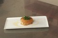 Pastilla aux patates douces et crabe mariné à l'huile d'argan