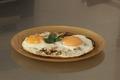 Oeuf au plat aux champignons