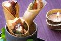 Cornets Croustillants au Foie gras et Figues