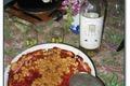 Crumble à la rhubarbe et aux gariguettes