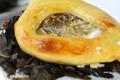 Huitres Spéciales de Claire Marennes Oléron luttées au caviar d'Aquitaine et sa compote d'oignons doux