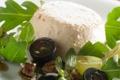 Terrine de Gruyère AOC sur salade de raisin
