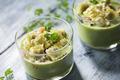 Gaspacho concombre  ravioles croustillantes au basilic