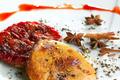 Tartelette de quetsches façon tatin et son escalope de foie gras poêlé