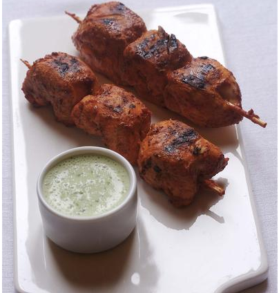 brochettes de poulet tandoori les recettes de titealexandra. Black Bedroom Furniture Sets. Home Design Ideas
