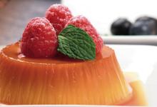Petites crèmes renversantes cranberry/framboise