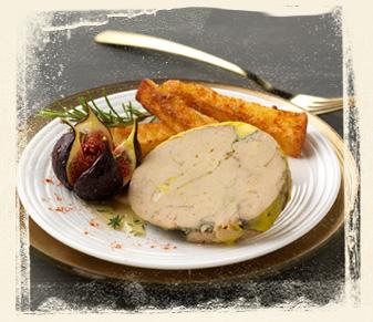Recette foie gras figue au miel et pain perdu au piment d - Decoration assiette de foie gras photo ...