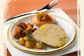Foie gras et madeleine Dacquoise