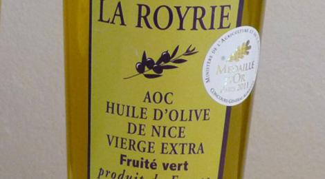 Huile d'olive fruité vert, domaine de la Royrie
