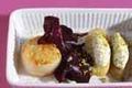 Fine de Ratte du touquet au fromage blanc et pistaches, Saint Jacques snackée